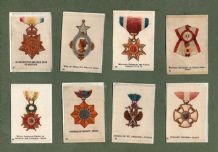 Collectable  Cigarette cards set  Orders of chivalry 1920 set of 50 silk